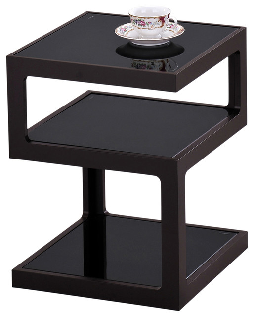 Modern Black Side Tables Content By Conran Accents Round With Metallic Top John
