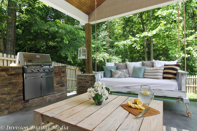 Luxury outdoor living rustic charlotte by invision for Luxury outdoor living