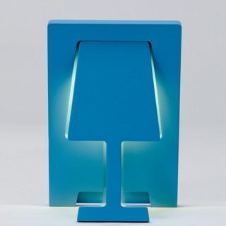 tischleuchte fold a light hellblau bauhaus look. Black Bedroom Furniture Sets. Home Design Ideas