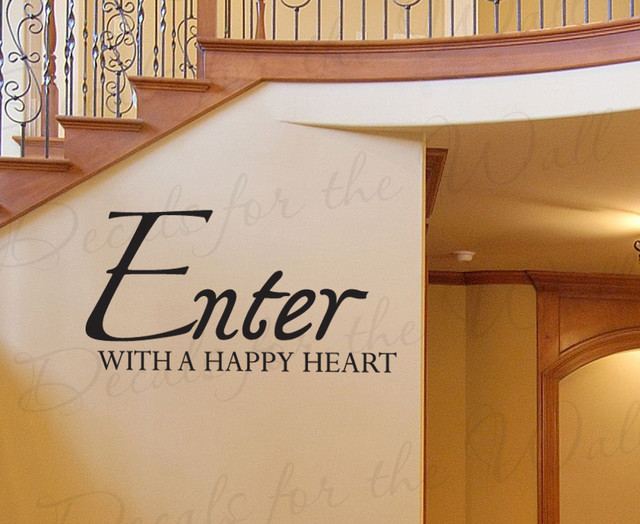Modern Foyer Quotes : Wall decal art sticker quote vinyl large entryway enter