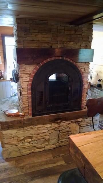 See Through Fireplace Design Side 1 Rustic Other By