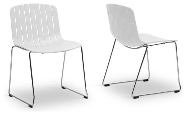 Baxton Studio Ximena Orange Plastic Modern Dining Chair