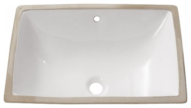 White Vitreous China Undermount Sink Contemporary