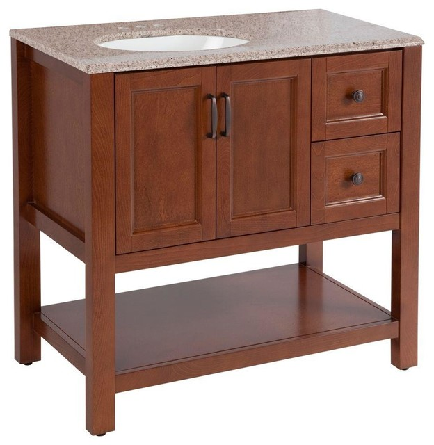Home Decorators Collection Bathroom Catalina 36 1 2 In Vanity In Amber With