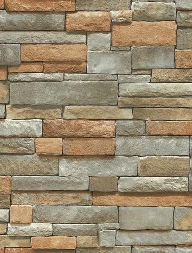 faux stone brick wallpaper - photo #16