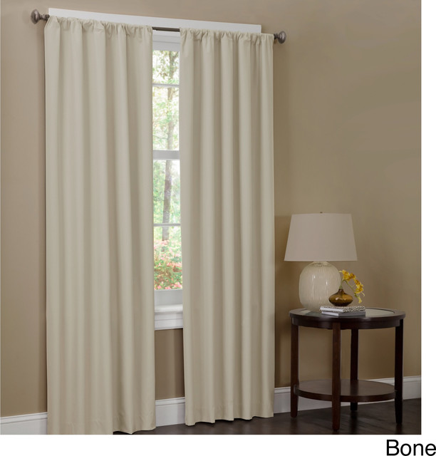 Microfiber 84 inch Curtain Panel Pair - Contemporary - Curtains - by ...
