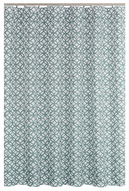 Madison Slate Blue 14 Piece Shower Curtain Set Contemporary Shower Curtains By