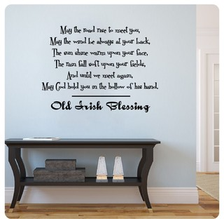 Home wall art may the road rise to meet you modern for Cheap modern furniture ireland