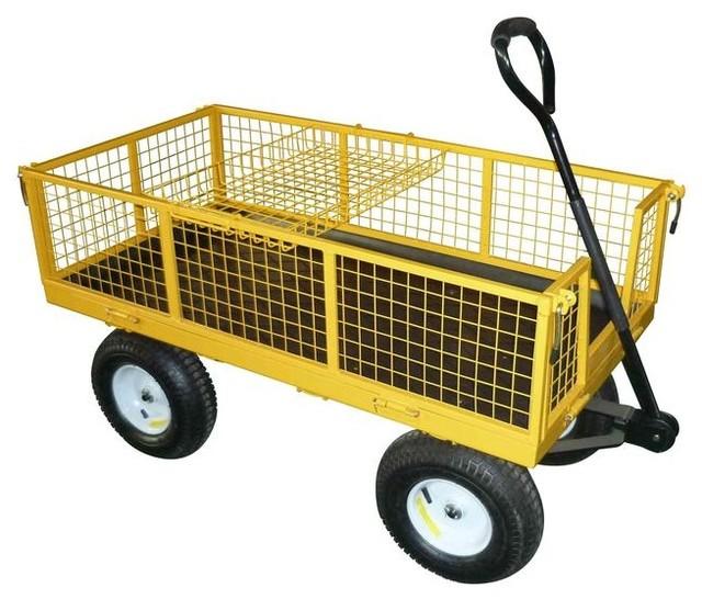 Garden Plus Steel Yard Cart - Contemporary - Wheelbarrows ...