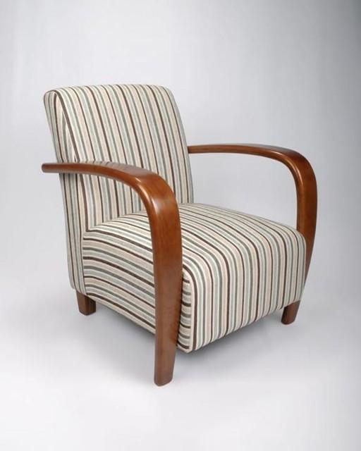 Stripe Armchair: Restmore Stripe Armchair