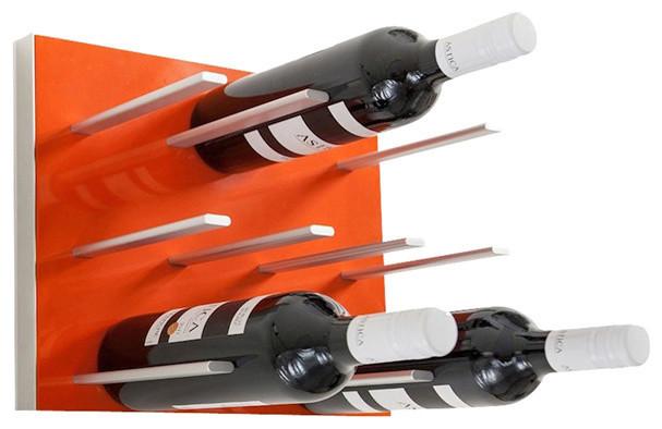Modular Wine Rack Electric Orange Size 4 Pack