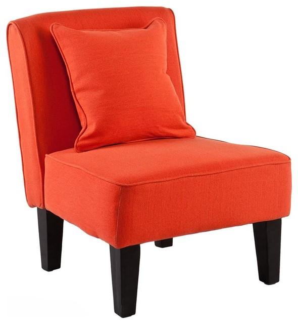 Purban Slipper Chairs In Red Orange Set Of 2