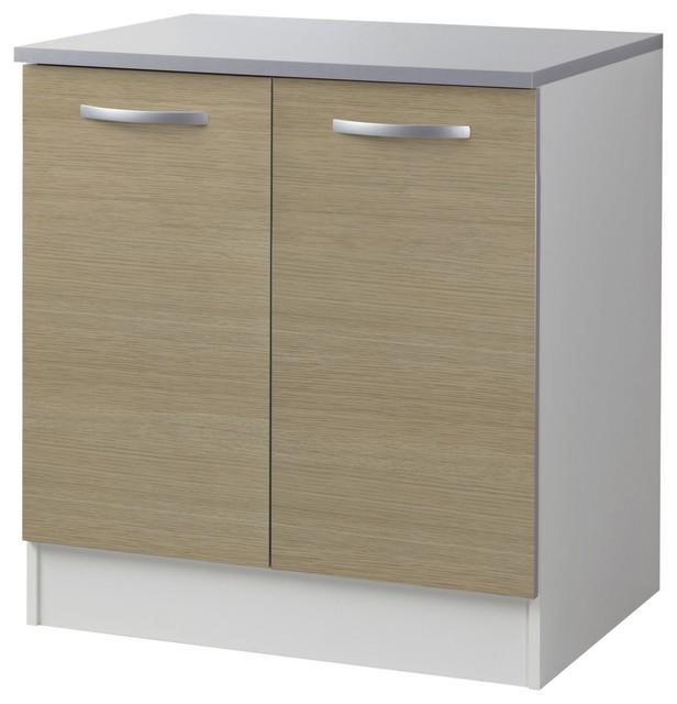 Django meuble de cuisine bas 80cm 2 portes coloris for Revetement placard cuisine