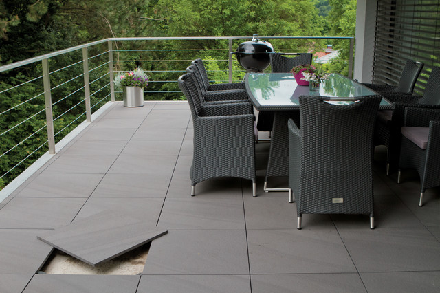 Evo Porcelain Pavers Esprit Lagos Grey Contemporary Porch Other Metro