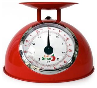 EatSmart Precision Retro Mechanical Kitchen Scale, Red - Modern - Kitchen Scales - by Amazon