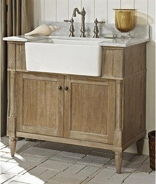 Fairmont designs rustic chic 36 farmhouse vanity weathered oak rustic bathroom vanities for 36 inch rustic bathroom vanity