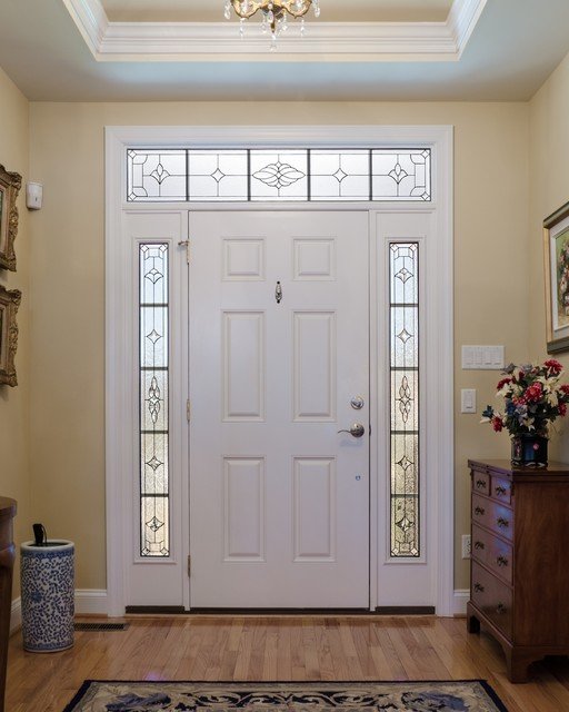 Sidelights And Transom Traditional Front Doors Richmond By Decorative Glass Solutions