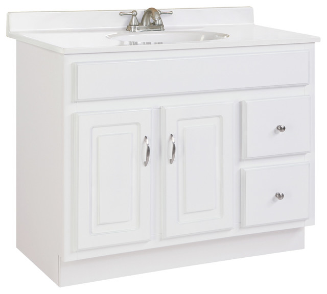 Concord single vanity without top white gloss finish 36 - White bathroom vanity without top ...
