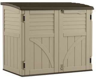 Suncast Storage Building. 2 ft. 8 in. x 4 ft 5 in. Resin ...
