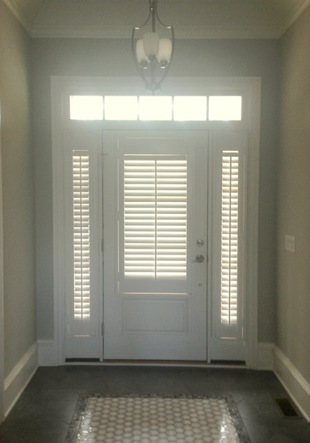 Shutter On Doors Sidelights Contemporary Window Blinds Other By