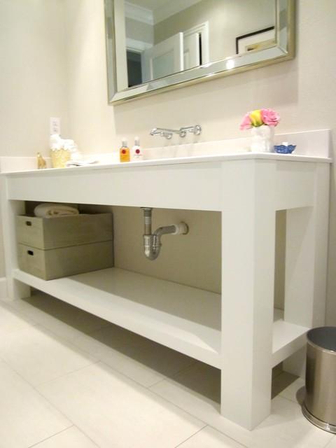 custom bathroom vanity console cabinet contemporary houston by