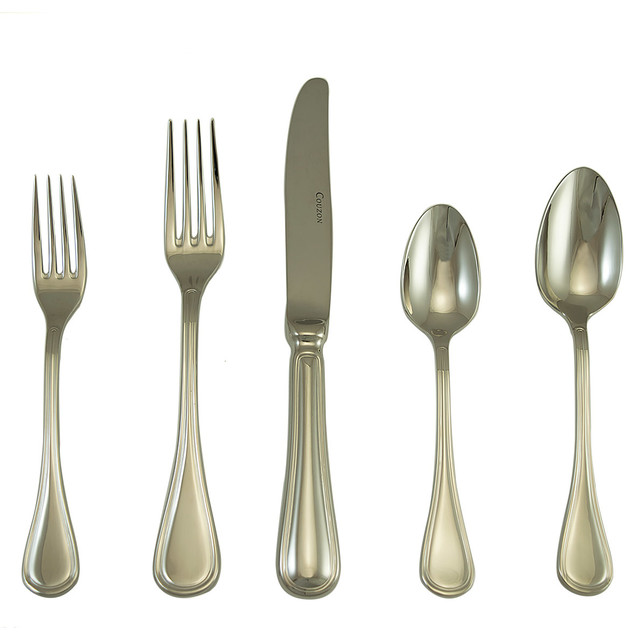 Lyrique Place Setting Set Of 5 Modern Flatware And Silverware Sets By Silver Superstore