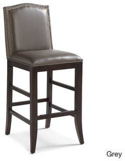 Sunpan Maison Leather Bar Stool Contemporary Bar Stools And Kitchen Stool