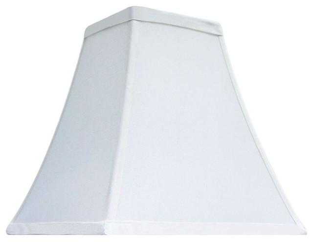 hampton bay lamp shades mix match cream hexagon bell. Black Bedroom Furniture Sets. Home Design Ideas