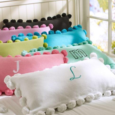 Pom Pom Organic Pillow Cover Modern Kids Bedding By