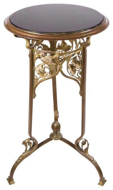 French Art Nouveau Marble Top Pedestal Table Midcentury Side Tables End Tables New York
