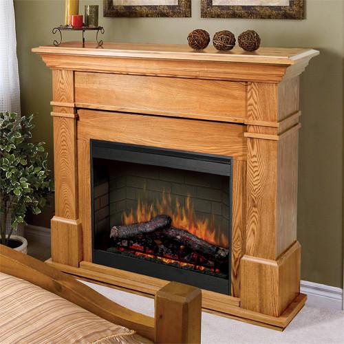 Kenton Oak Electric Fireplace Mantel Package - SMP-130-O ...