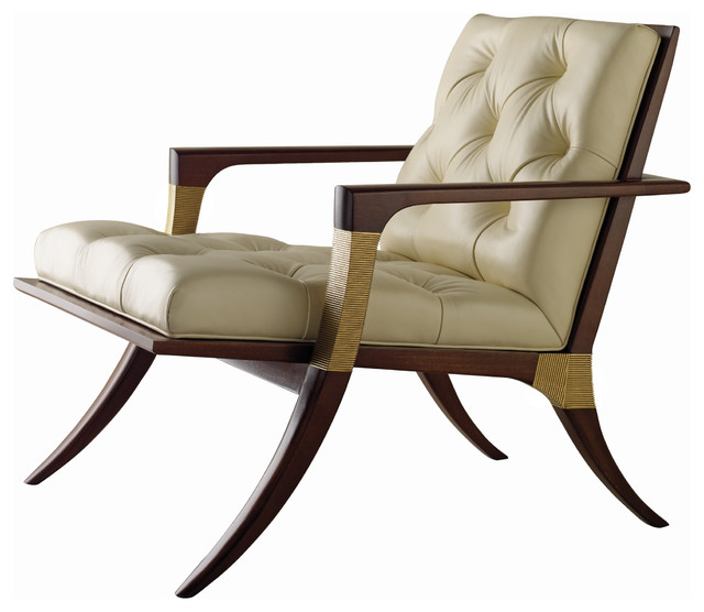 Athens Lounge Chair Tufted Baker Furniture Traditional Armchairs And