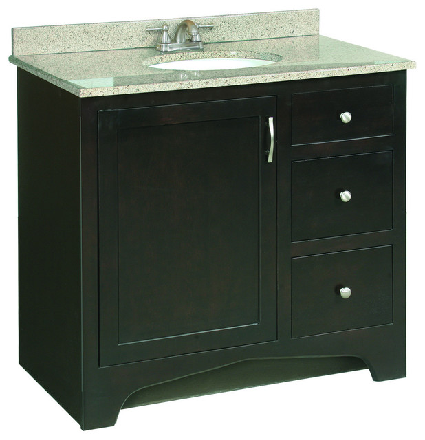 Innovative Product Features This Model Is A Cabinet  Base Only  Vanity Top And Sink Are Not Included Constructed Of Medium Density Fiberboard Providing A Lifetime Of Durability Features A Fullsized Cabinet With Matching Door Providing Ample