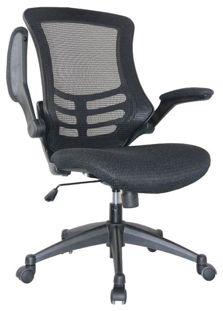 Chair In Black Set Of 2 Contemporary Office Chairs By Manhattan