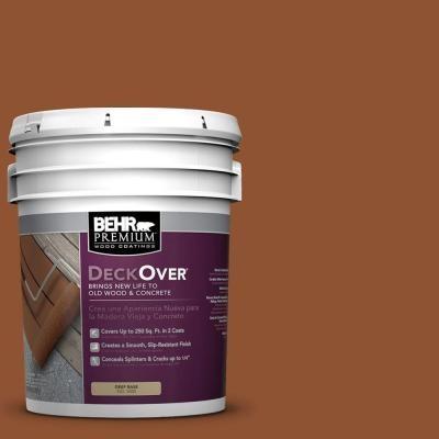 BEHR Premium DeckOver Paint. 5-gal. #SC-122 Redwood Naturaltone Wood ...
