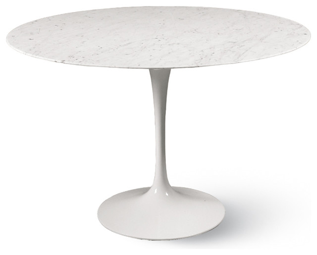 Saarinen Round Dining Table White Carrara Marble Top 36 Dining