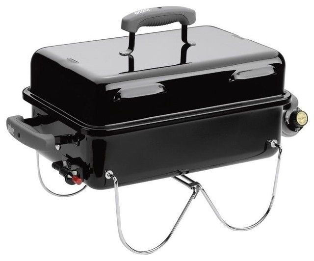 Weber Go-Anywhere Portable Propane Gas Grill - Contemporary - BBQs - by Great Garden Supply