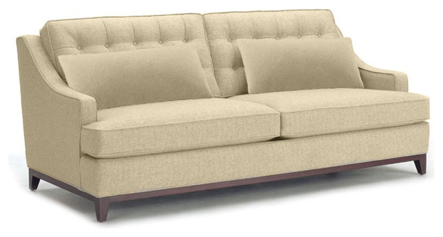 bannister apartment size sofa transitional loveseats by apt2b