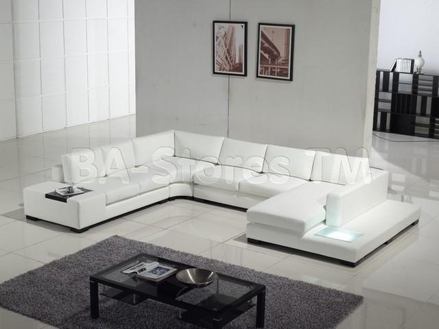Modern White Leather Sectional Sofa Modern Corner Sofas New York By N
