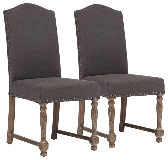 of 2 zuo richmond charcoal gray chairs traditional dining chairs