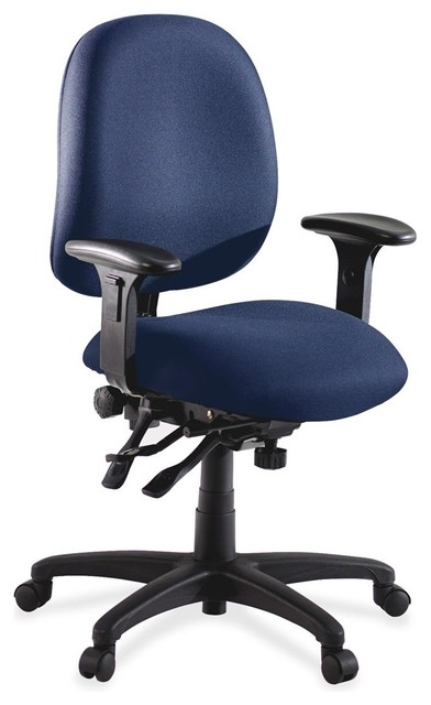 Chair blue seat metal frame contemporary office chairs by