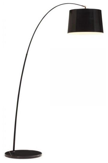 Zuo Modern Twisty Floor Lamp Black With Black Base