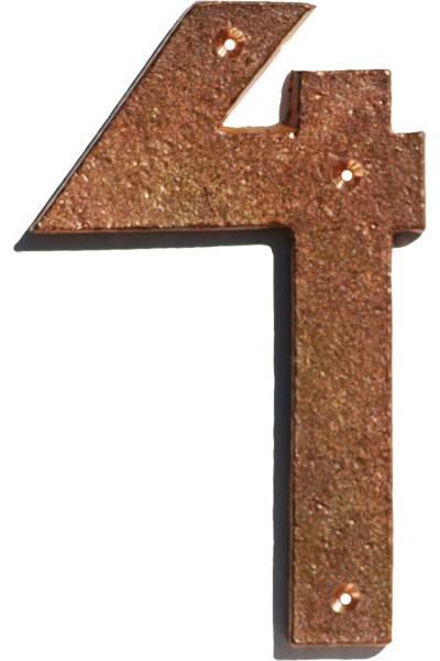 tumbled copper 4 arts and crafts house number craftsman. Black Bedroom Furniture Sets. Home Design Ideas