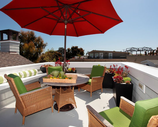 Roof deck home design ideas pictures remodel and decor for Beach house plans rooftop deck