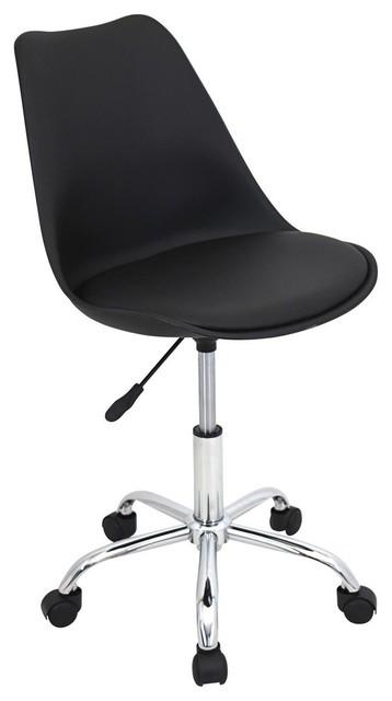 lumisource petal office chair black modern b rost hle. Black Bedroom Furniture Sets. Home Design Ideas