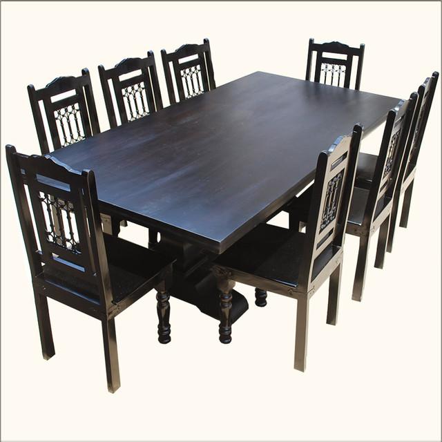 Nottingham Trestle Pedestal Rectangular Wood Dining Table  : dining tables from houzz.com size 640 x 640 jpeg 89kB