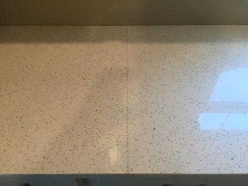 Is this an acceptable quartz seam for Seamless quartz countertops