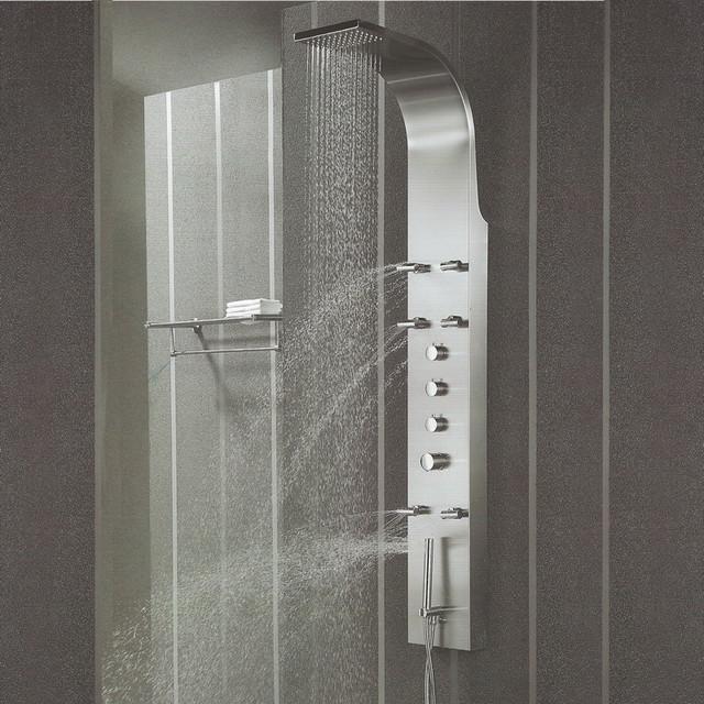 Stainless Steel Shower Panel Tower System Massage Spray Rainshower - Contemporary - Shower ...
