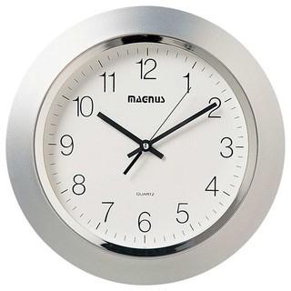 dainolite 14 diameter quartz clock plastic face silver