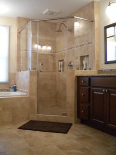 vienna master bath - shower - traditional - bathroom